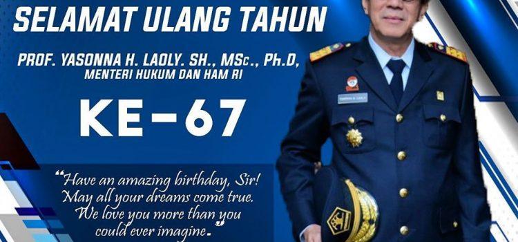 SELAMAT ULANG TAHUN KE-67 BAPAK YASONNA H. LAOLY