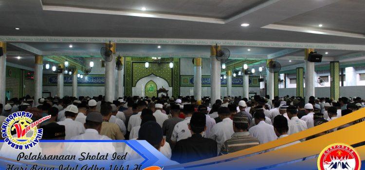 Memperingati Hari Raya Idul Adha 1441 H, Narapidana Lapas Kelas I Medan Sholat Ied Bersama Petugas Lapas