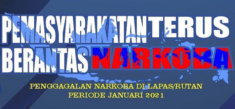GIAT PEMBERANTASAN NARKOTIKA DI LAPAS RUTAN SE INDONESIA PERIODE JANUARI 2021