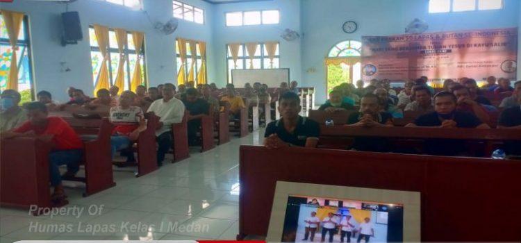 WARGA BINAAN LAPAS KELAS I MEDAN BESERTA 4000 WARGA BINAAN SE INDONESIA MELAKSANAKAN KEGIATAN IBADAH PASKAH BERSAMA MELALUI APLIKASI ZOOM.