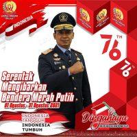 AYO SERENTAK MENGIBARKAN BENDERA MERAH PUTIH INDONESIA TANGGUH INDONESIA TUMBUH
