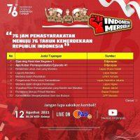 """PROGRAM KHUSUS PAS TV """"76 JAM PEMASYARAKATAN MENUJU 76 TAHUN KEMERDEKAAN REPUBLIK INDONESIA"""""""