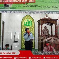LAPAS KELAS MEDAN  LAKSANAKAN DIZIKIR DAN DOA BERSAMA DALAM RANGKA MERAYAKAN TAHUN BARU ISLAM 1 MUHARRAM 1443 H